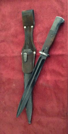 My K98 bayonet I use when walkin the dog.