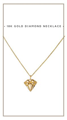 #jewelry #necklace #emmaisraelsson #diamond #gift #18K #ss18 #spring #news #newin #swedishdesign #inspo #styleinspo #spring2018 Swedish Design, 18k Gold, Gold Necklace, Diamond, News, Spring, Gifts, Jewelry, Gold Pendant Necklace
