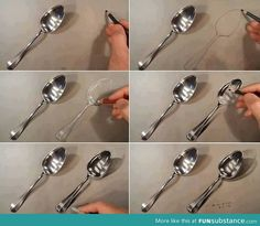 Realistic spoon drawing