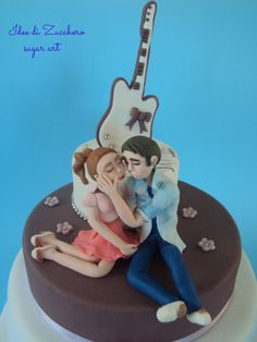 topper  Violetta & Leon Violetta & Leon cake topper