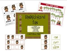 Gingerbread Number Fun - Counting and Number Recognition Math Classroom, Classroom Activities, Winter Activities, Kindergarten Math, Gingerbread Man Activities, Gingerbread Men, Toddler School, Preschool Christmas, School Themes