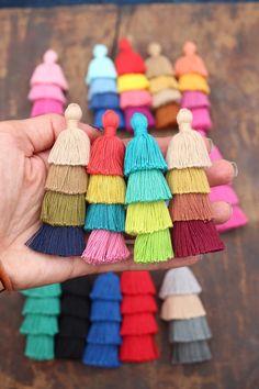 Tiered Tassels New FALL Colors, 3