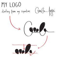Personal Logo by Cecilia Negri, via Behance