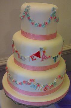 Mr & Mrs Bunting Wedding Cakee