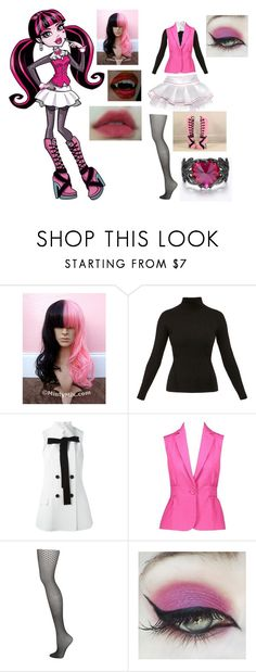 """""""Draculaura"""" by kidcreepy ❤ liked on Polyvore featuring Rane, Diane Von Furstenberg, Proenza Schouler, Topshop, Concrete Minerals and BHCosmetics"""