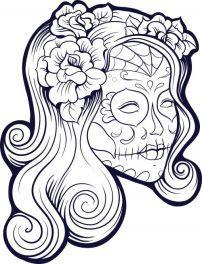 Sugar Skull Advanced Coloring 21