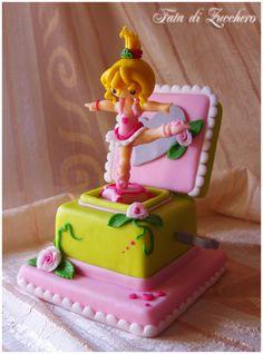 adorable ballet dancer cake