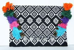 Aztec Embroidered Clutch Bag