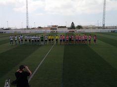 Dos plantillas previo partido segunda vuelta en La Mojonera