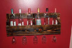 Wine shelf by SnTWoodshop on Etsy, $40.00