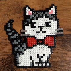 Cat hama beads by chokolakatoo