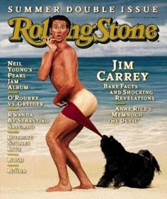 Jim Carrey as the Coppertone Girl - ROLLING STONE MAGAZINE