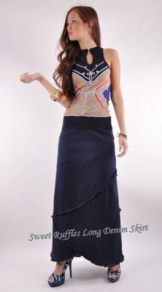 Style J Denim Skirts -- long and modest denim skirts