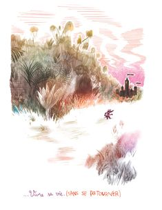 Gaëtan Dorémus Sketchbook Inspiration, Art Sketchbook, Art Et Illustration, Illustrations, Tableaux D'inspiration, Landscape Artwork, Crayon Art, Animation, Pencil Portrait