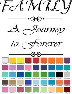 FAMILY A JOURNEY TO FOREVER VINYL WALL QUOTE Custom Vinyl Wall Decals, Vinyl Wall Quotes, How To Remove, How To Apply, Small Quotes, Walls, Journey, Petty Quotes, Wall