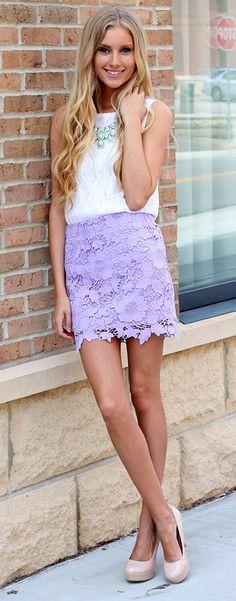 lavender bud skirt