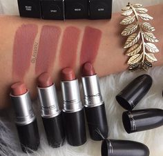 MAC lipstick - Velvet Teddy is my everyday lipstick Makeup Swatches, Makeup Dupes, Skin Makeup, Makeup Cosmetics, Beauty Makeup, Mac Lipstick Swatches, Top Mac Lipsticks, Makeup Products, Makeup Style