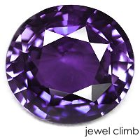 Violet Sapphire - Corundum's toughness, high hardness and chemical resistance enable it to persist in sediments long after other minerals have been destroyed.