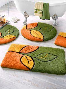 Koupelnové koberečky Listy