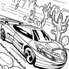 Desenhos para colorir - Hot Wheels para colorir