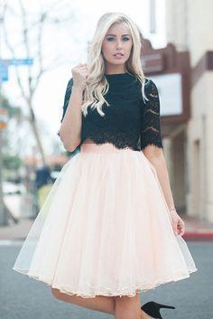 54a7fd8ace3 Allure Tulle Skirt - Blush, tulle skirt outfit idea, Space 46 tulle,  feminine. Skylar Belle