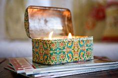 DIY: vintage tin candles