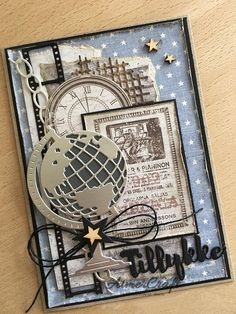 Masculine Birthday Cards, Birthday Cards For Men, Man Birthday, Masculine Cards, Steampunk Cards, Die Cut Cards, Marianne Design, Fathers Day Cards, Stencil Diy
