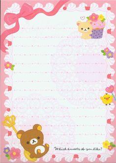 Rilakkuma Memo Pad bears & chick with cake 5