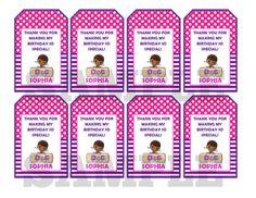 Nota de doc McStuffins etiqueta tarjeta archivo por kidspartypixel