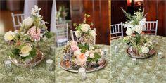 Floral Wedding Reception Centerpieces | Crystal Belcher Photography