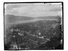 Påskrift negativ: 248 Påskrift konvolutt: B-248 Bergen. Oversikt. Sentrum Nordnes. Foto: Marthinius Skøien - National Library of Norway