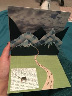 Mountain pop up card with letter pocket for my boyfriends birthday