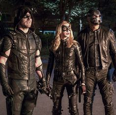 Arrow 4x12 - Oliver, Laurel & Diggle