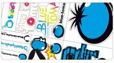 Free Blue Tomato Sticker-Set
