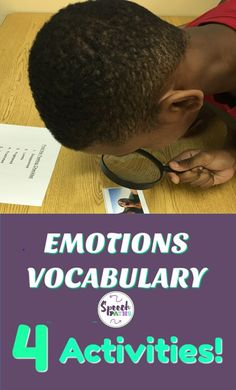 My students love these fun activities to learn about emotions and feelings.  Great for speech therapy and counseling social skill groups.  Easily incorporated into Social Thinking curriculum.  Free worksheet downloads included!  #socialskills #emotions #feelings