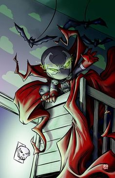Chibi Spawn!! One of the entries for Tod Mcfalane's cover art competition. Cute as Heck.