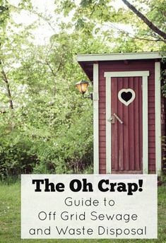 The Oh Crap! Guide to Off Grid Sewage and Waste Disposal. When you live off grid, you are also disconnecting yourself from the municipal sewage system. Sewage is something that people don't think much about but definitely not something you can take for gr Off Grid Survival, Survival Food, Survival Prepping, Emergency Preparedness, Survival Skills, Survival Shelter, Survival Hacks, Survival Stuff, Off Grid House