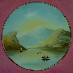 Painted scenic french plate
