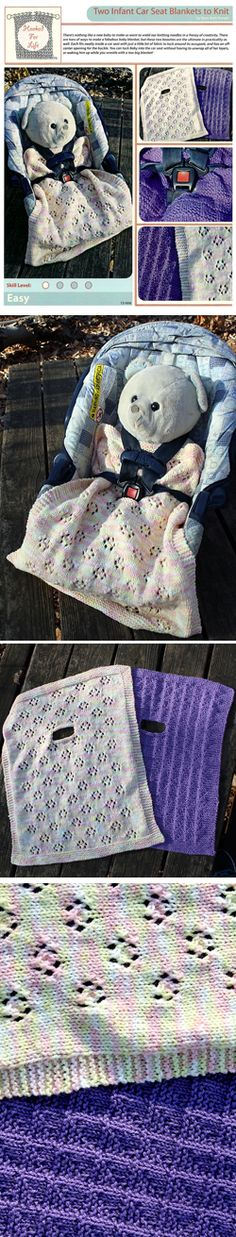 1000+ images about Knitting Patterns on Pinterest Baby blankets, Car seat b...