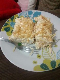 Torta de pão Pullman com frango..Thá Ferreira