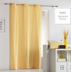 Jedinečné závěsy skandinávského stylu ve žluté barvě Stylus, Decoration, Curtains, Shower, Yellow, Prints, Home Decor, Dimensions, Motifs