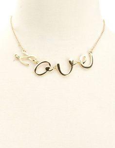 Scripted Love Short Necklace: Charlotte Russe