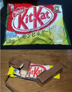 Lemon Vinegar flavoured Kit Kat - Japan