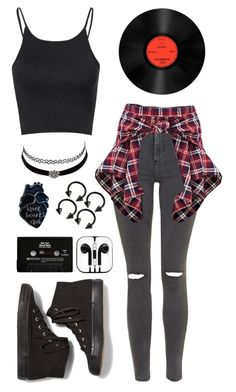 A fashion look from May 2016 featuring cropped shirts, high-waisted skinny jeans and red pants. Browse and shop related looks. Cute Emo Outfits, Bad Girl Outfits, Really Cute Outfits, Casual School Outfits, Teenager Outfits, Teen Fashion Outfits, Swag Outfits, Retro Outfits, Outfits For Teens