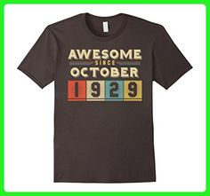 Mens Vintage Born in October 1929 88th Birthday 88 Years Old Medium Asphalt - Birthday shirts (*Amazon Partner-Link)