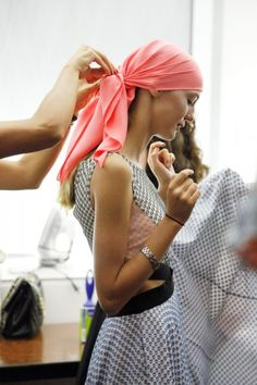 Headscarves during Fashion Week