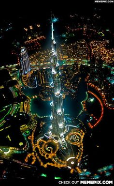 Shot from a Helicopter in Dubai, the World's Tallest Building