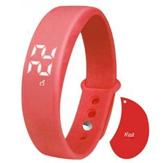 Bluetooth Digital Fitness Tracker | IOS & ANDROID Compatible | RED
