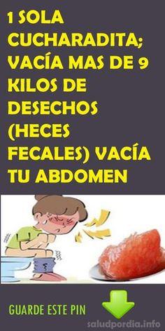 1 SOLA CUCHARADITA; VACÍA MAS DE 9 KILOS DE DESECHOS (HECES FECALES) VACÍA TU ABDOMEN. #CUCHARADITA #KILOS #ABDOMEN