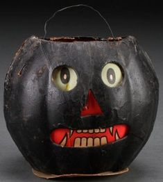A Black Americana Halloween Candy Container